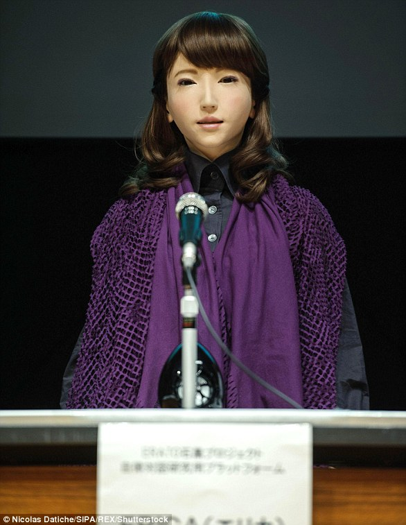 Robot News Anchor Erica - YellRobot