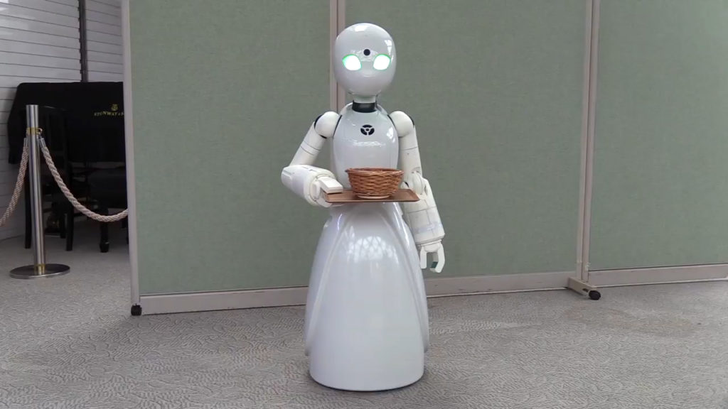 OriHime-D Robot Waiter Controlled By People With Disablities - YellRobot