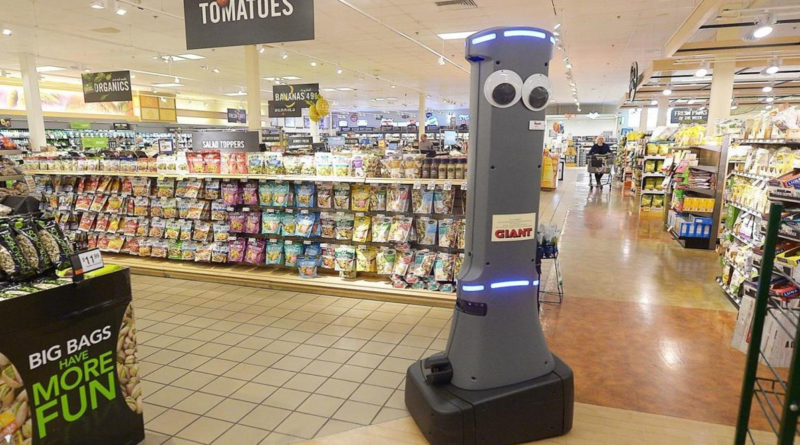 Marty Grocery Store Robot Cleans Spills - YellRobot