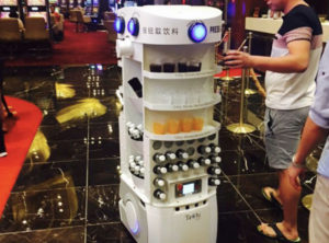Techi Serve Drink Robot Dubai - YellRobot