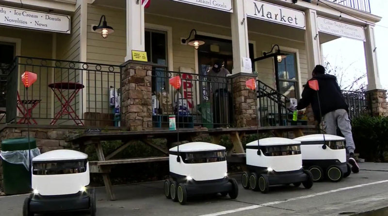 Grocery Delivery Robot Starship Broad Branch Market - YellRobot