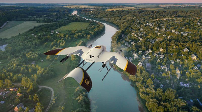 UPS Drone Delivery Wingcopter - YellRobot