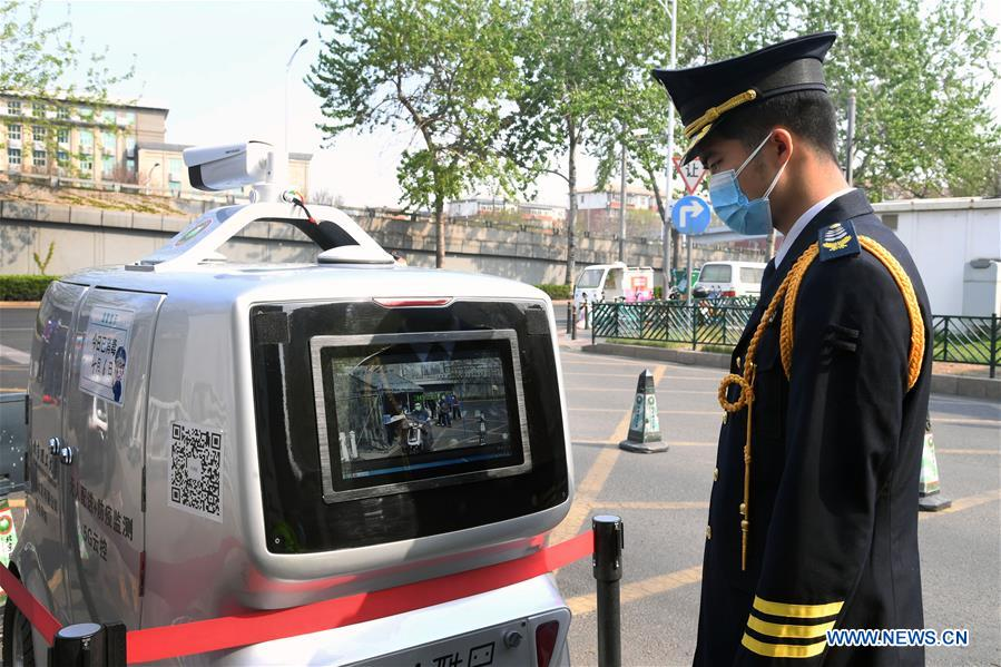 5g car screening for COVID-19 Beijing - YellRobot