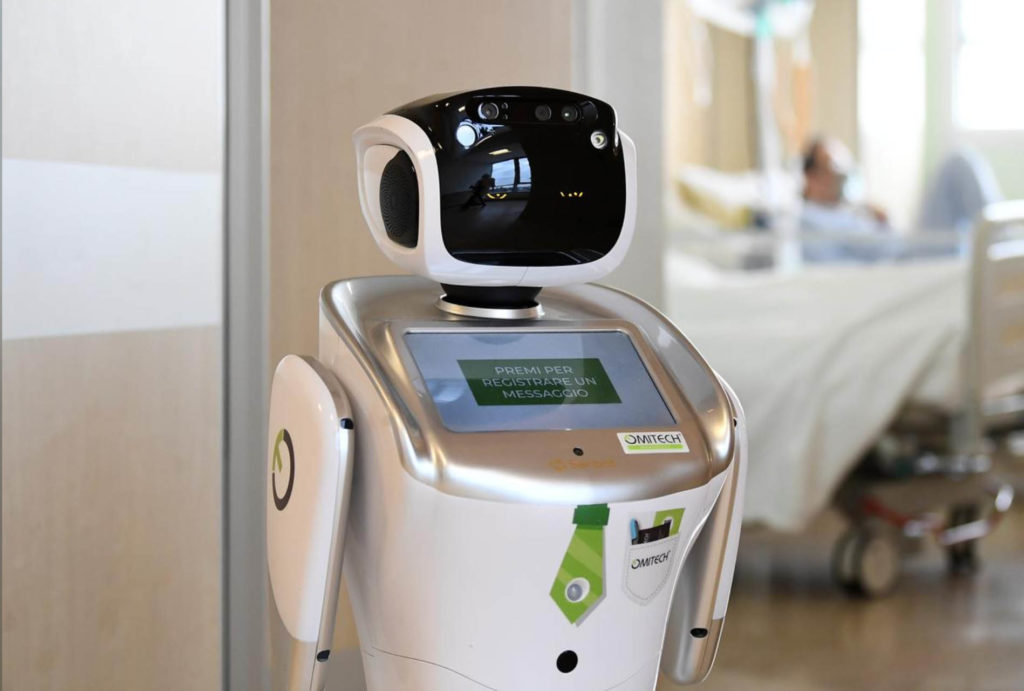 Tommy the Robot Hospital Lombardy Italy - YellRobot